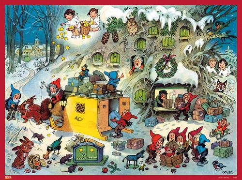 Gnomes Christmas Post Office German Advent Calendar