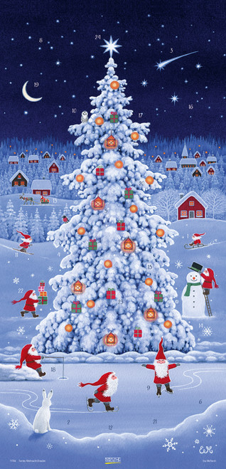 Nisse Winter Christmas Tree Extra Tall German Advent Calendar