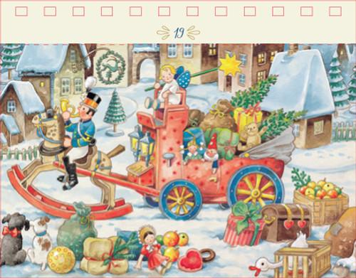 Nostalgic Chistmas Card 24 Postcards Tear Off German Advent Calendar
