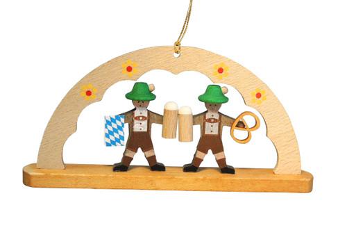 Bavarian Arch Wooden German Christmas Ornament