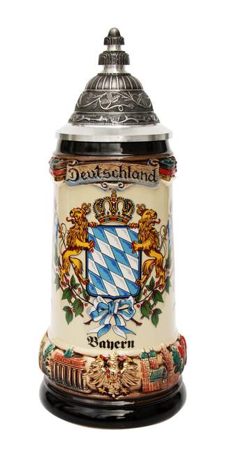 Bayern Flags Coat of Arms Deutschland Beer Stein