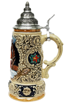Christmas Ceramic Beer Stein