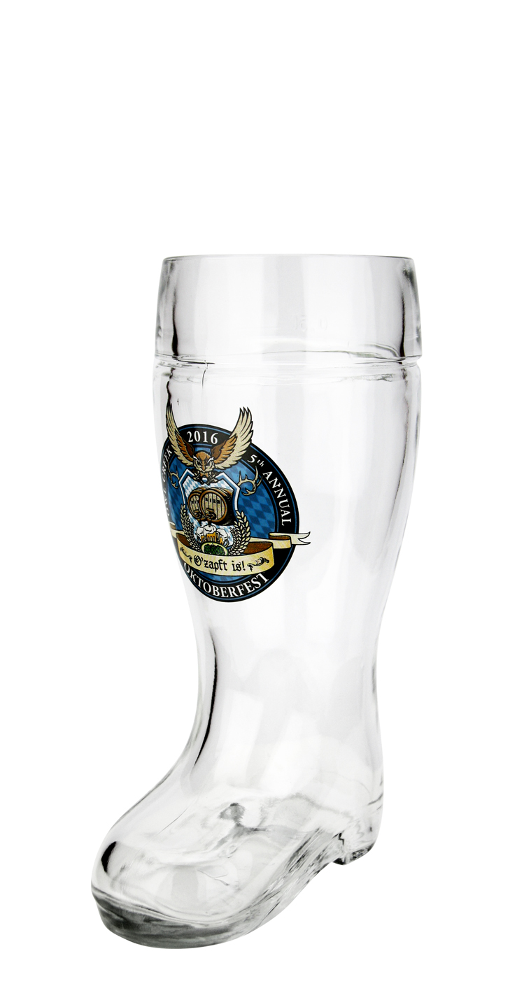 Das Boot with Custom Decorated Logo 0.5 Liter Size Glass