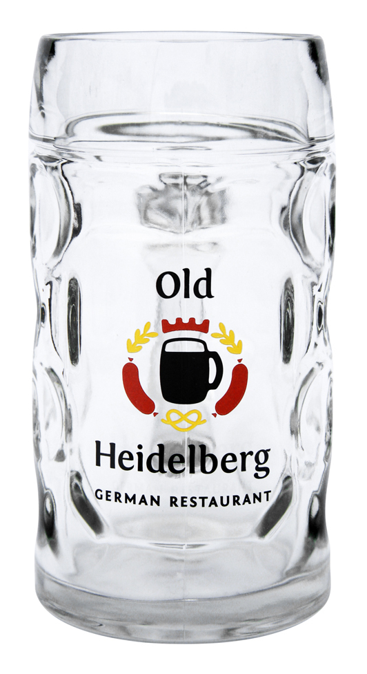 Custom Decorated Dimpled German Mug 0.5L