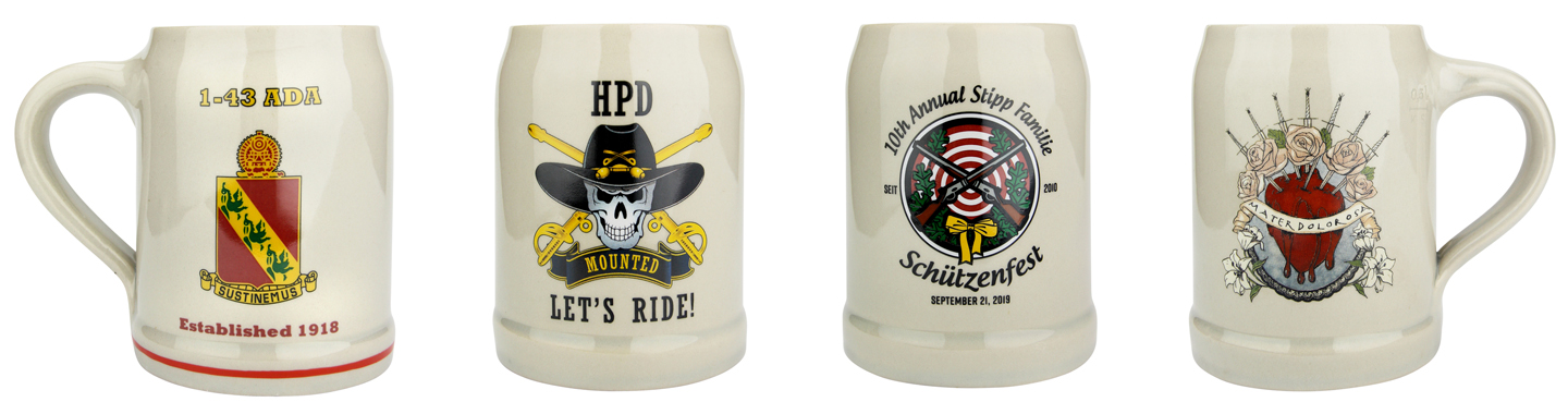 Custom Decoration on German Beer Mugs 0.5 Liter