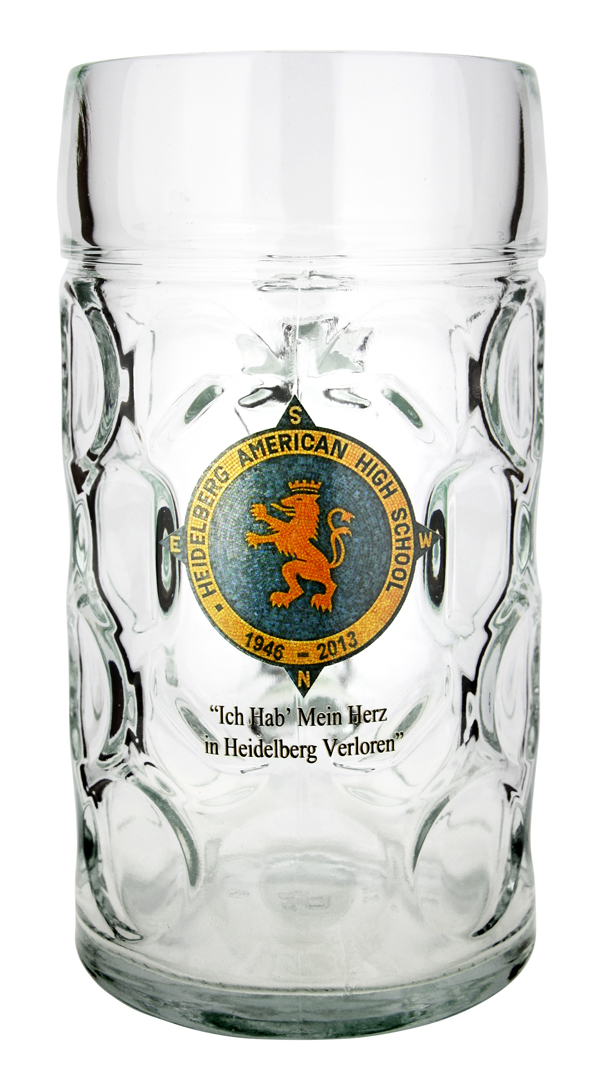 Color Custom Fired on Decoration on 1 liter Isar Oktoberfest Mass Mug