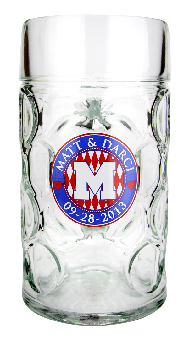 Custom decorate a dimpled glass mug for your event