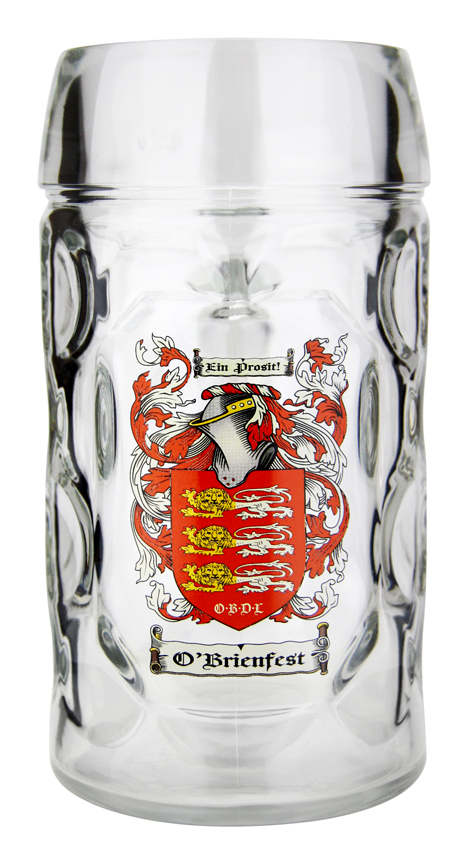Custom Beer Glass German Oktoberfest Logo 0.5 Liter