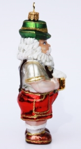 German Christmas Santa Ornament