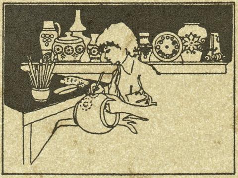 Girmscheid hand made pottery - master artist at work
