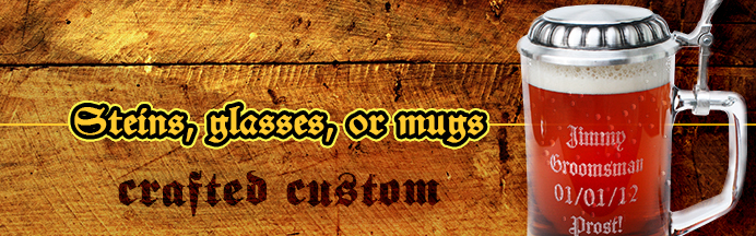 Personalized Beer Mugs, Glasses & Steins Made Custom
