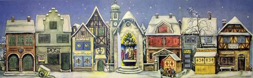 Richard Sellmer Verlags Original German Paper Advent Calendar from 1946