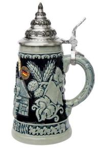 Cobalt Ceramic Munich Oktoberfest Beer Mug 0.4 Liter