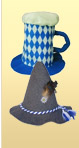 Two Felt Oktoberfest Party Hats