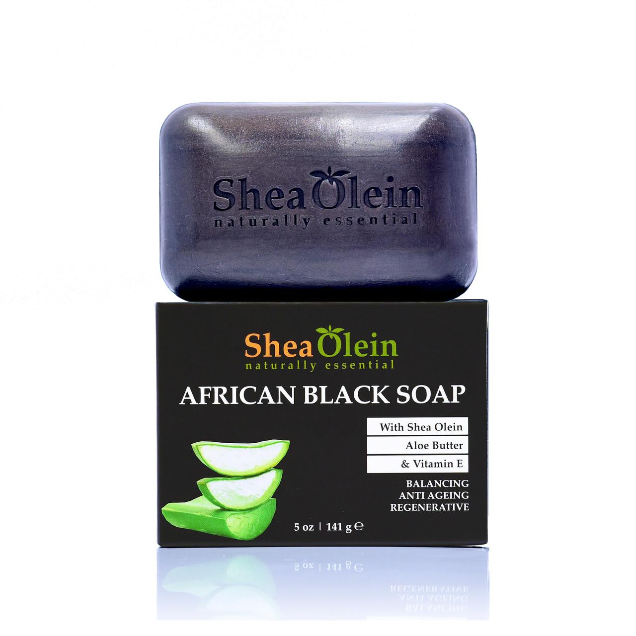 African Black Soap w/Shea Olein, Aloe Butter & Vilamin E. by SheaOlien
