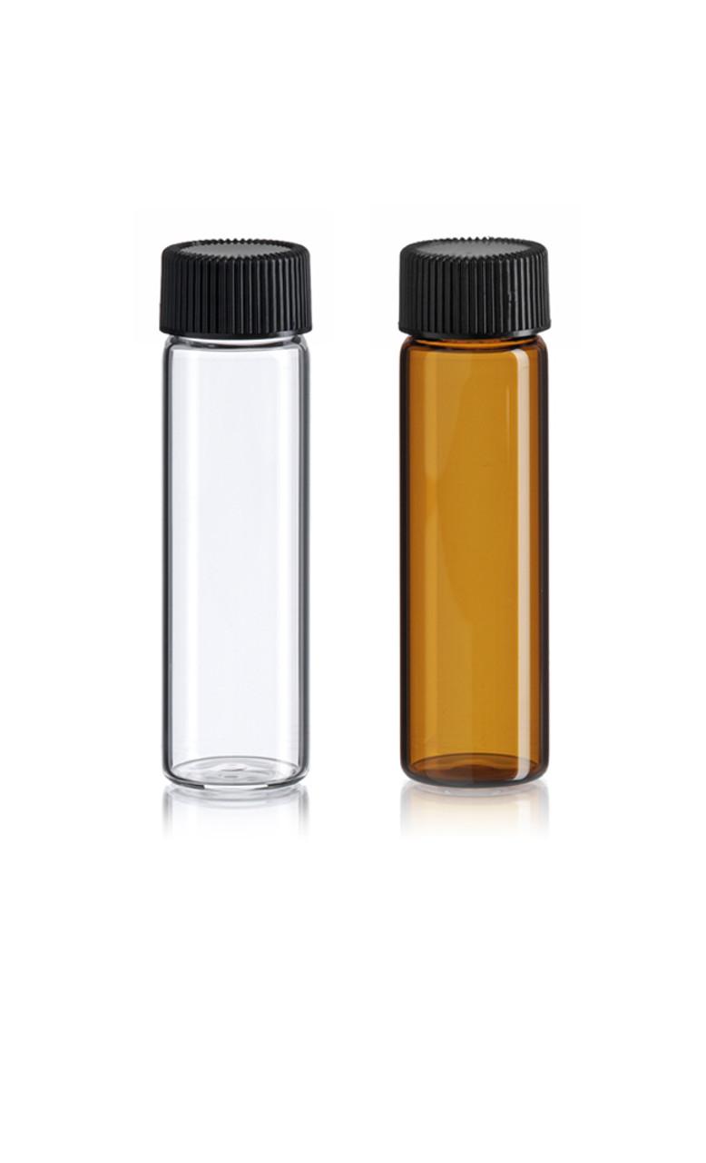 4 Dram Glass Vials w/caps (21x70mm)