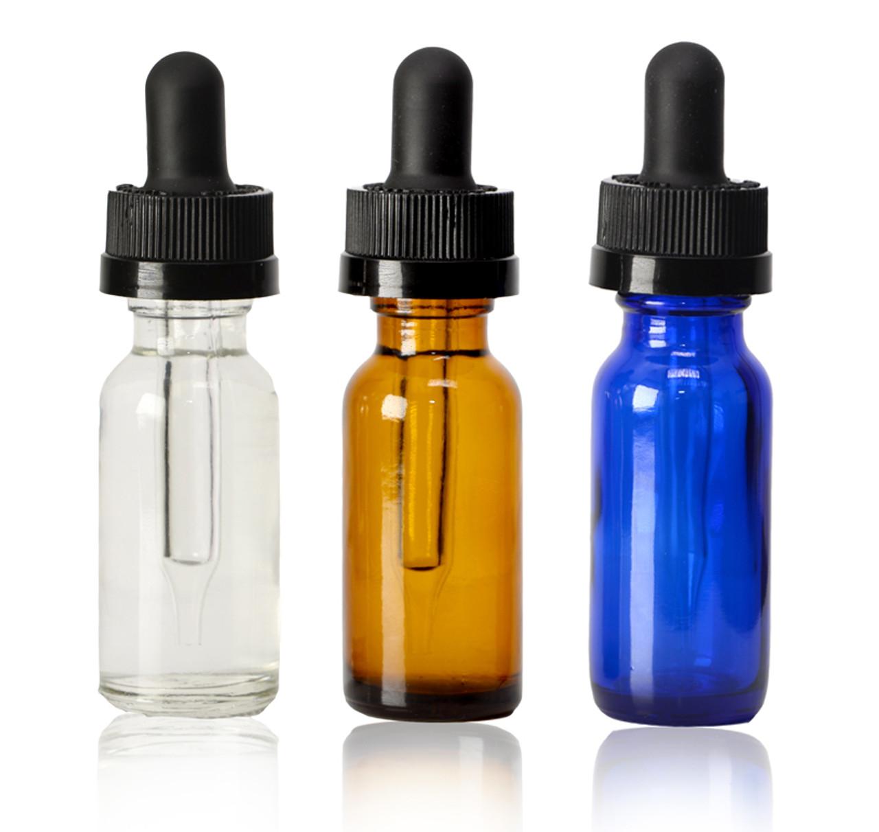 15 ml,1/2 oz Boston Round with Black Child Resistant Dropper