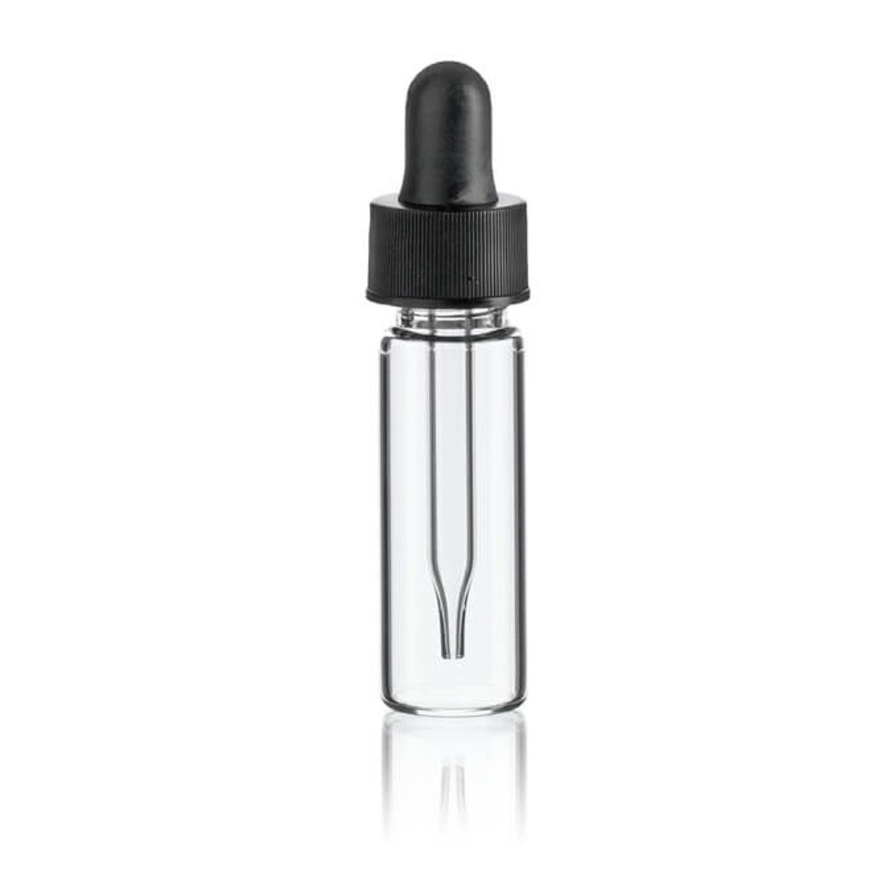 1 dram clear glass vials with dropper