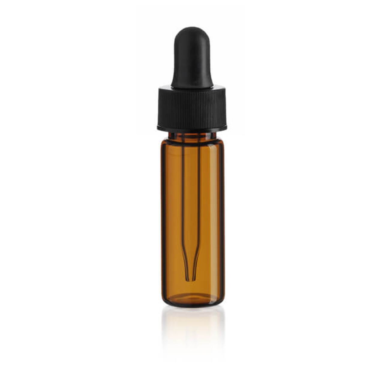1 dram amber glass vials with dropper