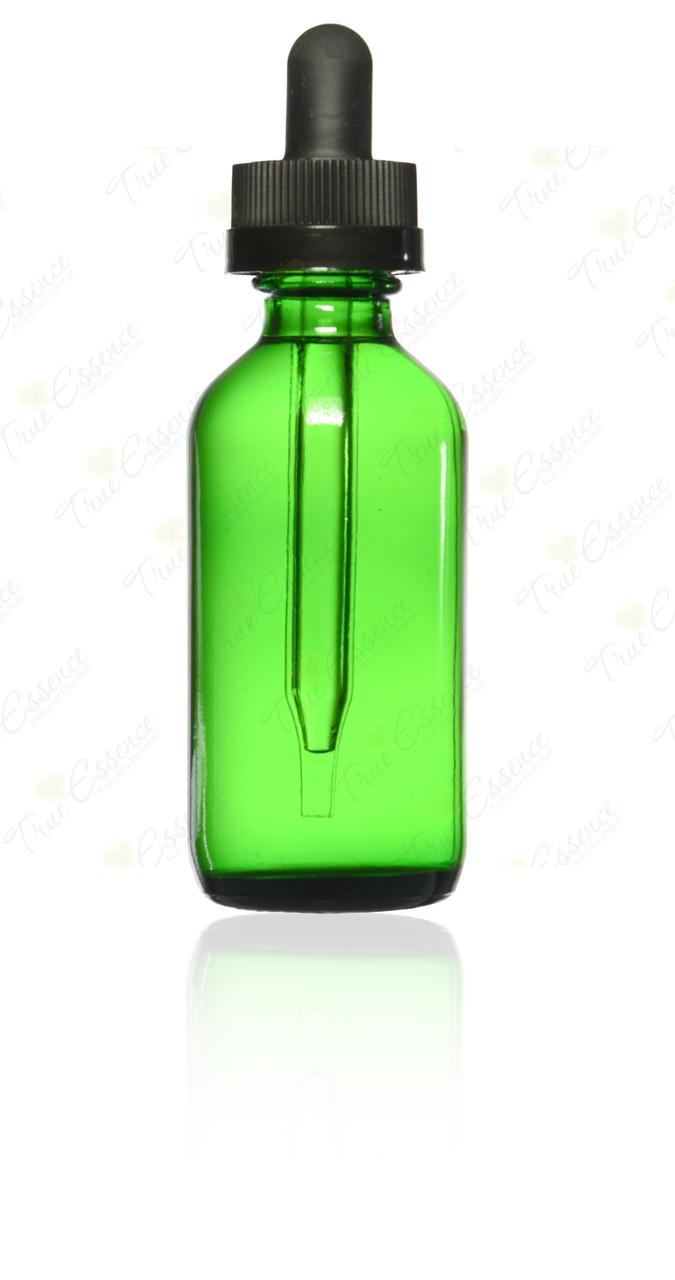 2 oz Green Boston Round child Resistant Dropper