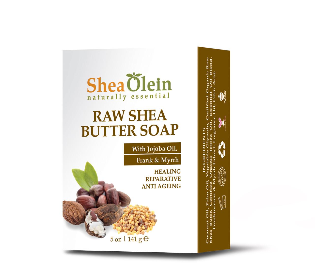 Raw Shea Butter Soap W/Jojoba oil, Frank & Myrrah by SheaOlien