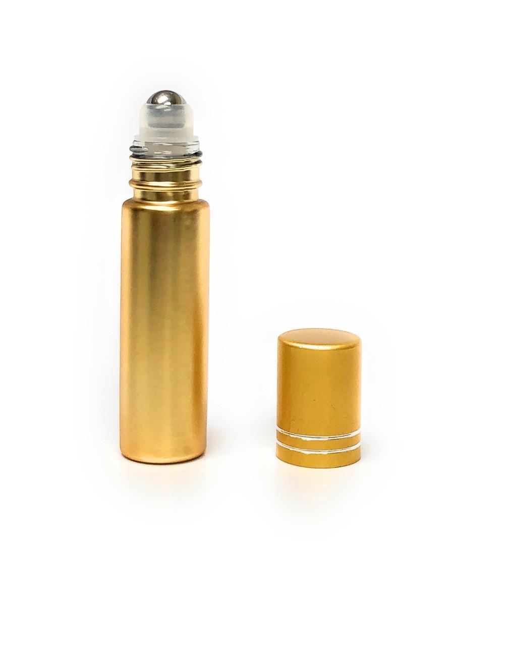 10 ml Gold Metallic Roll on Bottles