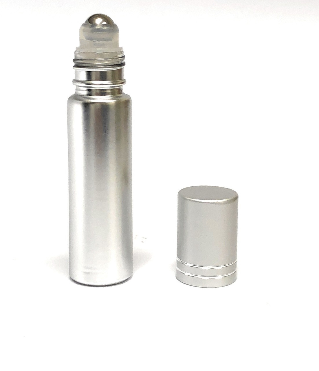 10 ml Silver Metallic Roll on Bottles
