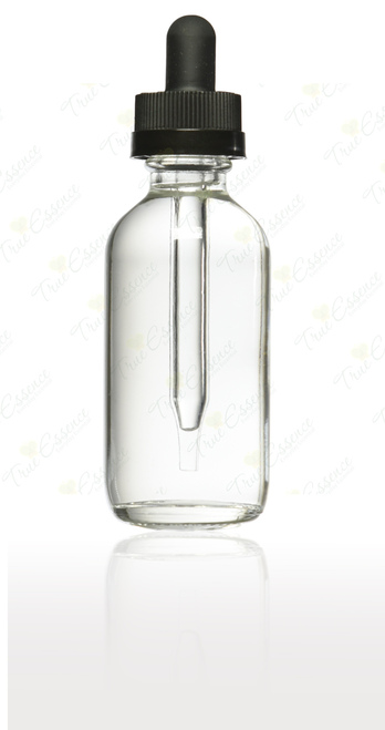 2 oz Clear Boston Round child Resistant Dropper