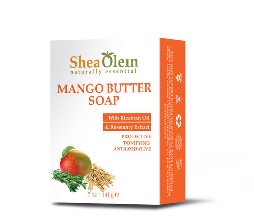 Mango Butter Soap w/Rice bran Oil & Rosemary Extract by Shea Olien