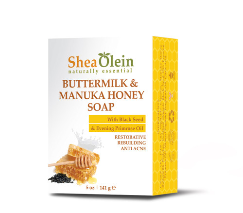 Buttermilk  Manuka Honey Soap w/Black Seed & Evening Primrose Oil
