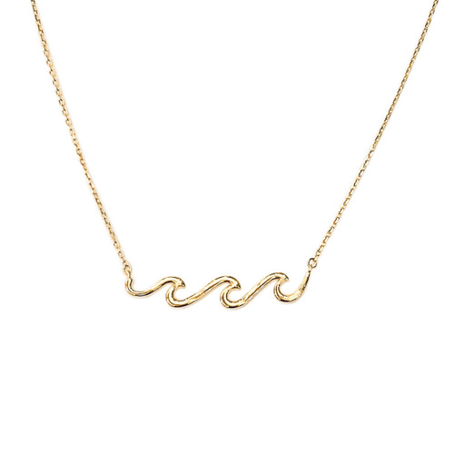 3 Waves in a line Gold over Sterling Silver