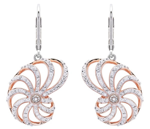 Nautilus Conch Shell Lever Back Earrings