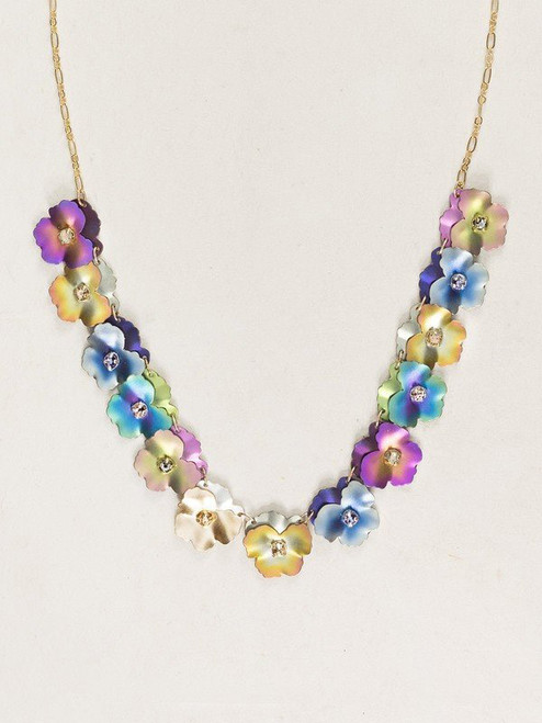 HY_Multi Pansy Collar Necklace