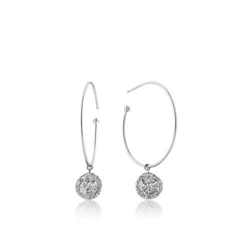 COINS 925 HOOP EARRINGS