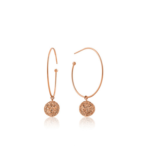 COINS 925 HOOP EARRINGS r