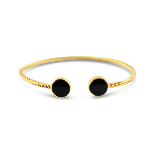 Rope Inlet Cuff - Yellow Gold SH