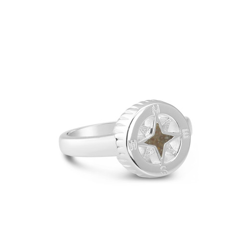 Compass Ring with Stone Harbor Sand