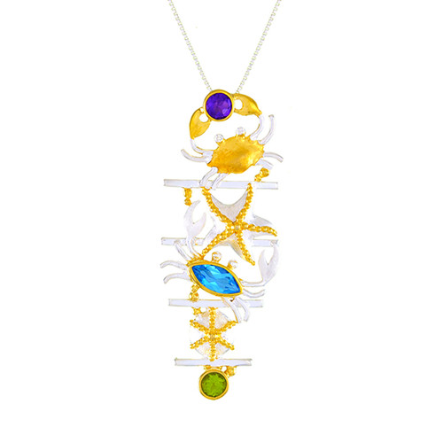 Lotus Sea Life Stack Necklace