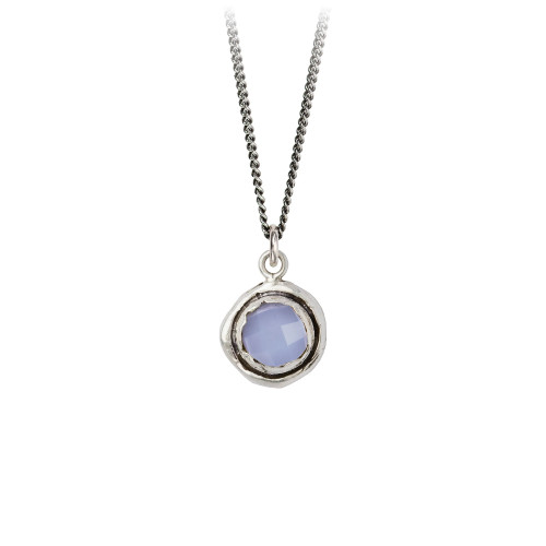 Chalcedony Faceted Stone Talisman
