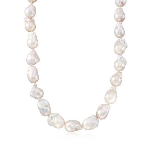 Baroque Pearl Necklace 18-25mm  21.5 inch AAA+ Quality 16mm mag clasp