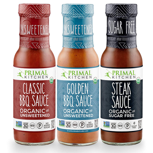 3 Pack Organic and Unsweetned Barbeque & Steak Sauce