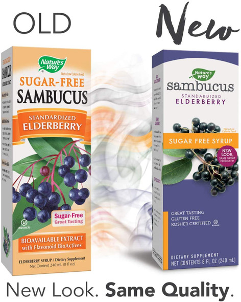 Sambucus Sugar-Free Elderberry Syrup, Herbal Supplements