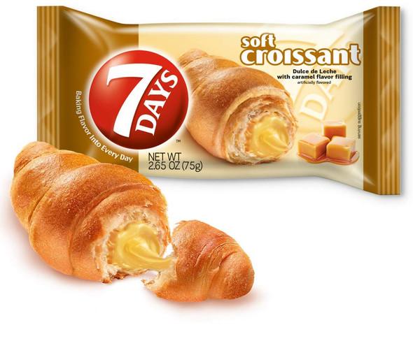 Soft Croissant, Caramel Dulce De Leche Filling, Perfect Breakfast