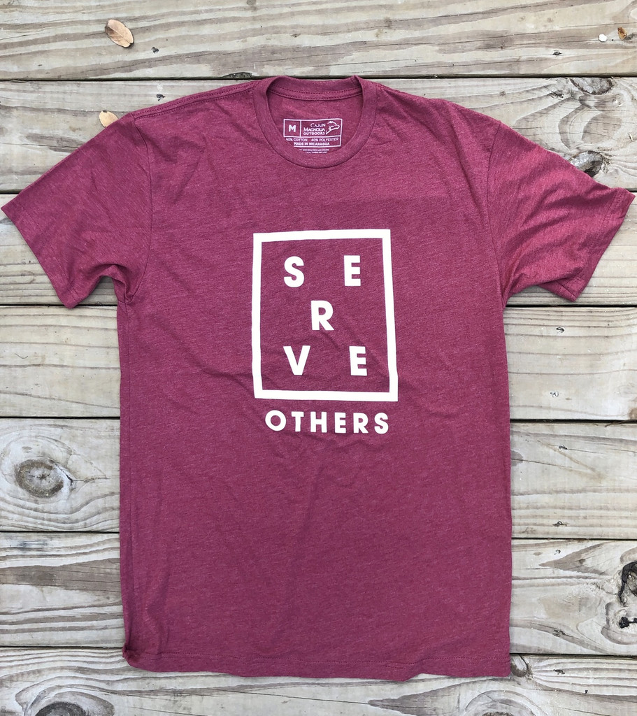 Serve Others Tee- Brick Red