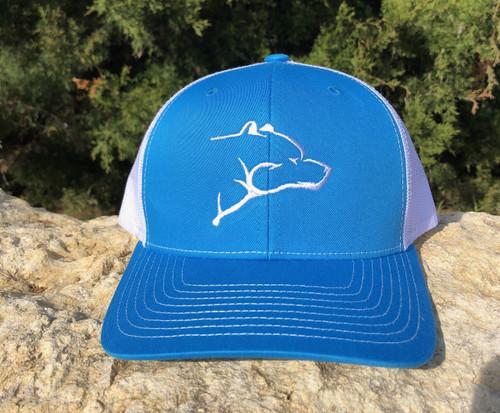 CMO Bear Hat - Cyan Blue/White