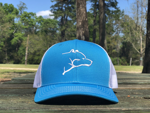 CMO Bear Hat - Cyan Blue/White