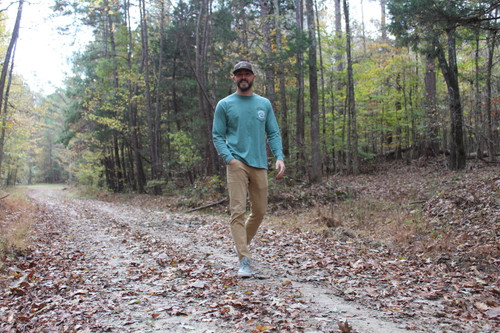 Seek Adventure Long Sleeve Pocket Tee