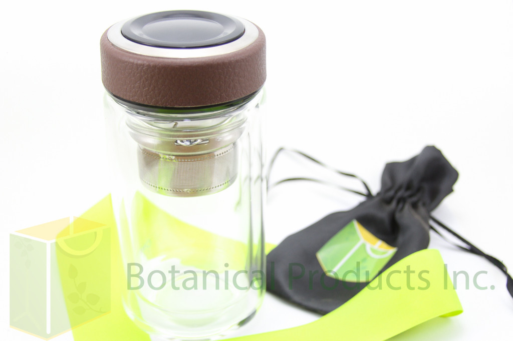 The compact Botanical Products Inc. Tea Infuser has arrived! Enjoy our fresh organic teas anytime, anywhere.