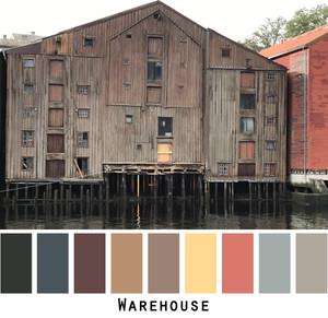 Warehouse Photo by Inese Iris Liepina brown, rust, sepia, tan, gold, red ocher, grey, black