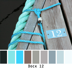 Dock 12 - turquoise jade blue black grey slate - photo by Inese Iris Liepina, Wrapture by Inese